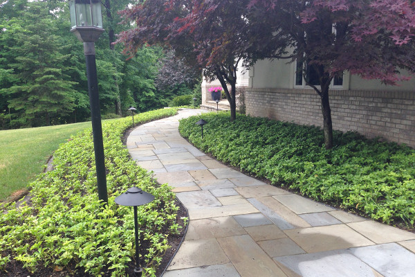 walkway by Frate Landscaping
