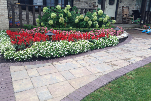 Decorative walkway by Frate Landscaping
